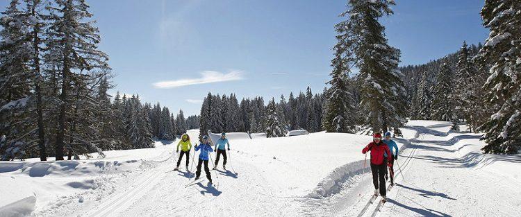 ski de fond domaine de bois barbu à corrençon en vercors
